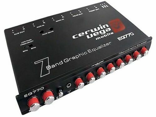 OPEN BOX Cerwin-Vega EQ-770 7-Band Graphic EQUALIZER with Auxiliary Input