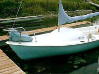 19' Paceship Mouette with trailer