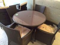 Panama Ratten round 4 seater garden furniture