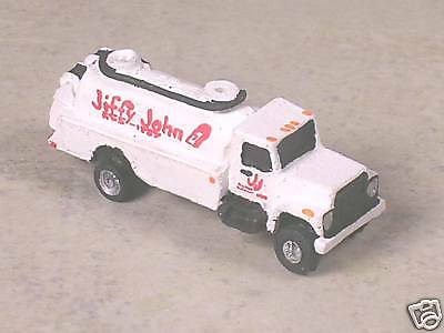 N Scale 1998 White International Jiffy John Septic Tank Truck