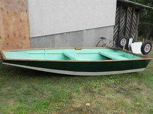 Fly Fishing Boat with Flip Down Wheels