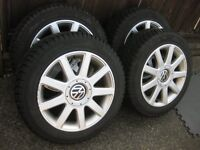 Set of AfterMarket 16Inch Audi/VW winter package  5x100/5x112