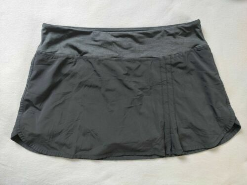 Lululemon Skirt sz 6 charcoal coal gray grey green Running Skirt lined Pace