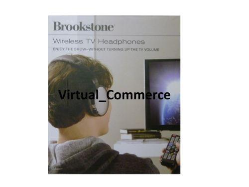 brookstone 2.4 ghz wireless tv headphones manual