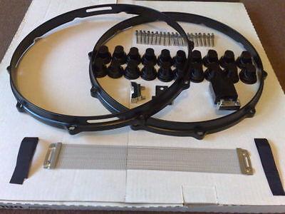 """£250 Full Snare Drum Hardware custom 14 DIE CAST HOOP 20 1"""" Lug/ cymbal dw tube"""