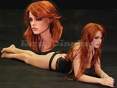 Female Fiberglass Mannequin Pretty Face Elegant Pose Dress From Display Fr12-md
