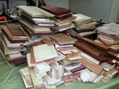 """16"""" Long Box of Thin Scrap Boards, Great for Scroll Sawing or General Crafting"""