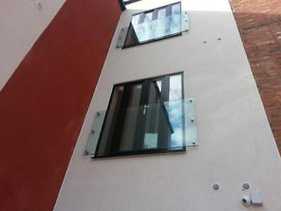 1900x1100x17.5 Toughened Laminated glass balcony & 6 316 stainless steel fixings