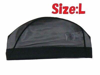Arena Japanese Mesh Swim Cap (Wig cap) Black ARN13 Made in JAPAN Size Large