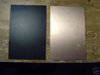 10 Pcs Copper Laminate Board Pcb. Fr-4 030 Black 4 X 6 2 Oz Single Sided