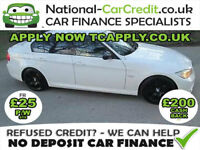 BMW 3 SERIES 2.0 318d M Sport 4dr Good / Bad Credit Car Finance (white) 2010