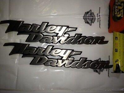 Genuine Harley Davidson Fuel Gas Tank Emblems Emblem Badges Right & Left