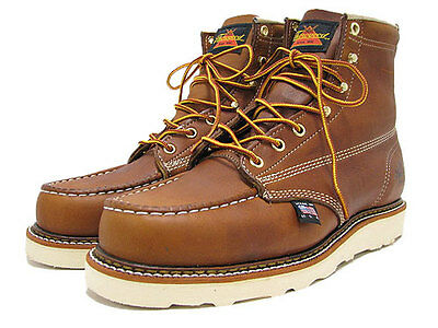 10 D Thorogood Work Heritage Boots 814-4200 Made In USA Moc Toe American Retro