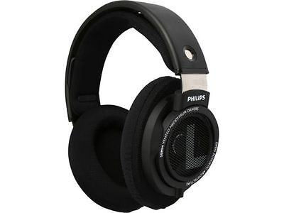 Philips SHP9500 HiFi Precision Stereo Over-Ear Headphones - Black - 50mm Drivers