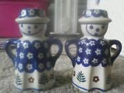 Polish Pottery Salt and Pepper