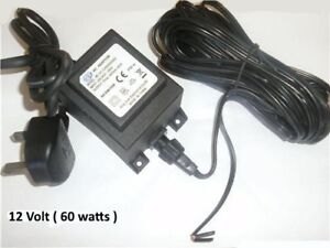 12v  AC  60W Garden Transformer outdoor 12 volts 60 WATTS Power Supply IP68