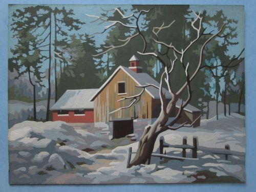 Vintage Paint By Number Pair Ebay