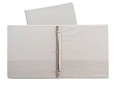 White Vinyl Standard 3-ring Binders 1-inch For 8.5 X 11 Sheets 4 Pack