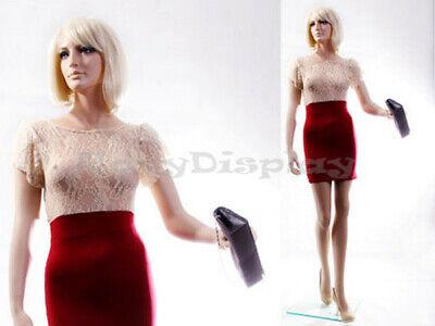 Female Fiberglass Mannequin With Pretty Face Elegant Pose Mz-zara7