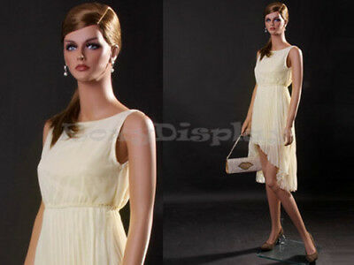 Female Fiberglass Mannequin Beautiful Face With Elegant Pose Style Mz-lisa3