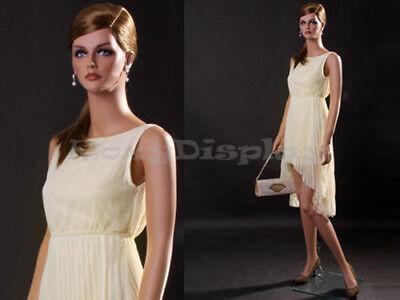 Female Fiberglass Mannequin Beautiful Face With Elegant Pose Style Mz-lisa3