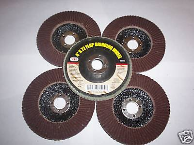 """5pc ILLINOIS INDUSTRIAL 4"""" ANGLE GRINDER SANDING FLAP DISC WHEEL 120 GRIT"""