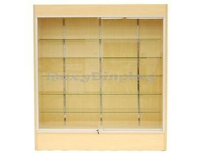 Wall Maple Display Show Case Retail Store Fixture Wlights Knocked Down Wc6m
