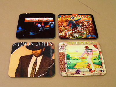 Elton John Album Cover COASTER Set