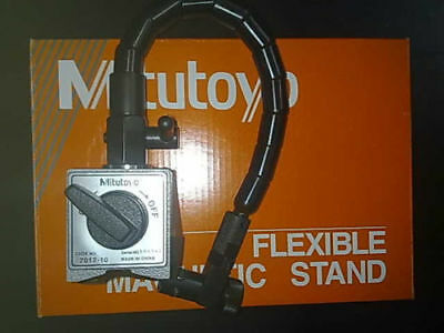 New Mitutoyo Magnetic Base 7012 - 10 For Dial Indicator Gauges - Flexible