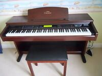 Yamaha Clavinova CVP-103 Digital Piano in mahogany Full Size 88 keys 3 pedals, matching colour stool