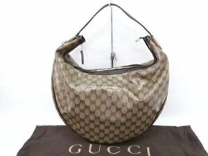 AUTHENTIC GUCCI BAG COATED CANVAS Beige