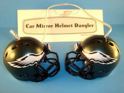 PHILADELPHIA EAGLES CAR MIRROR NFL FOOTBALL HELMET DANGLER - HANG FROM ANYTHING!
