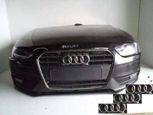 Front end AUDI A4 8K B8 2012 - 2015 Front bumper, bonnet, radiator pack, headlights, fenders