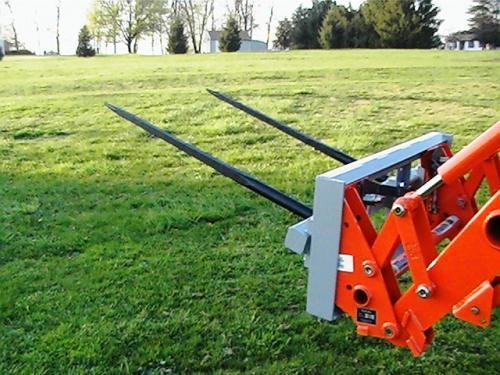 """Skid Steer DOUBLE Bale Spear Attachment 2 x 49"""" Prong Hay Bale Handler CAT-M"""
