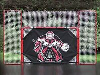 New Regulation Hockey Net with backstop and shooter tutor