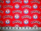 Red Baseball Fabric