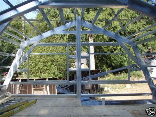 GAMBREL GARAGE SHOP HOME STEEL BUILDING 2nd FLOOR -All METAL