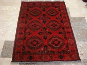 Excellent Afghan Khal Muhamadi Rectangle Area Rug Hand Knotted Wool Carpet (4.9 x 3.5)'