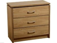 Brand New Seconique Charles 3 Drawer Chest RRP £130