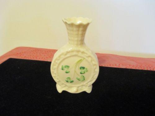Belleek Vase Brown Mark Ebay