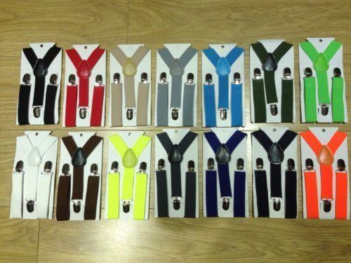 Boys Girls Baby Toddler Children Adjustable Washable Braces Suspenders 1-8 Years