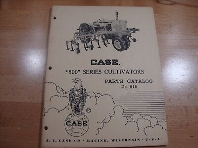 Case 800 Series Cultivator Parts Catalog Manual No. 818 1961 823 843 846 866