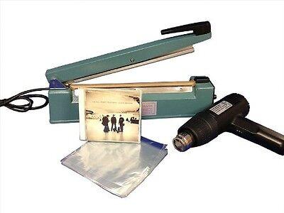 Shrink Wrapping System 500-6.5x10 Dvd Bags 8heat Sealer Heat Gun