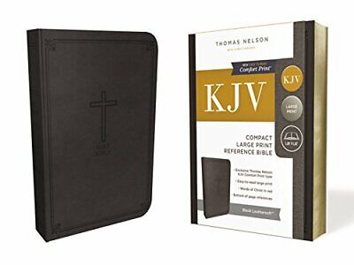 KJV  Reference Bible  Compact  Large Print  Imitation New Imitation Leather Book