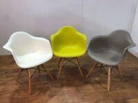 Multi Coloured Contemporary Plastic Armchairs Restaurant Bistro Cafe