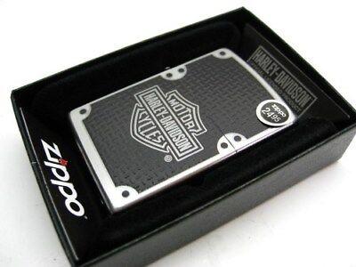 ZIPPO Full Size Satin Chrome HARLEY-DAVIDSON Windproof Lighter! 24025