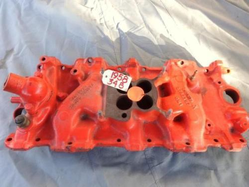 1958 - 1959 CHEVROLET 348 INTAKE MANIFOLD USED - GM #3732757- GOOD CONDITION
