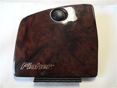 "FISHER GLOVE BOX DOOR 102530GD FAUX WOODGRAIN 9 1/8"" X 8 7/8"" MARINE BOAT"