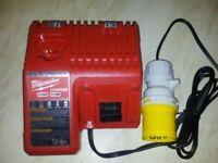 Milwaukee M12 M18 Battery Charger 48-59-1812 Lithium 12 - 18 Volt Site 110 volt plug