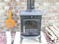 £195.00 NEW 4.5KW MULTIFUEL CAST IRON STOVE / WOOD BURNER FIRE